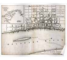 Plan of the city of Philadelphia - 1776  Poster
