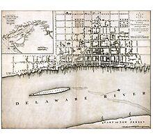 Plan of the city of Philadelphia - 1776  Photographic Print