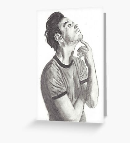 Andrew Scott (Moriarty from BBC Sherlock) Greeting Card
