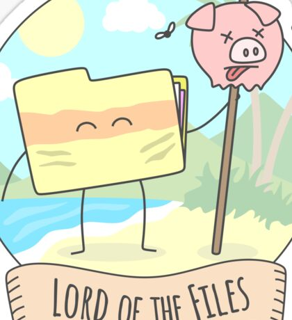 Lord of the Files Sticker