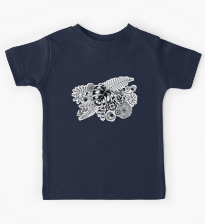 Tropical Leaves and Flowers Kids Tee
