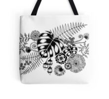 Tropical Leaves and Flowers Tote Bag