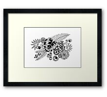 Tropical Leaves and Flowers Framed Print