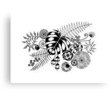 Tropical Leaves and Flowers Metal Print