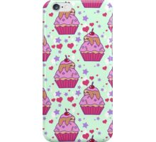 Cupcake Sloth Pattern iPhone Case/Skin