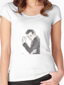 Moriarty portrayed by Andrew Scott in Sherlock Women's Fitted Scoop T-Shirt