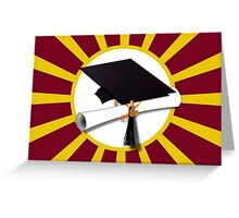 Red and Gold School Colors  Greeting Card