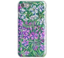 Pink phloxes flowers iPhone Case/Skin