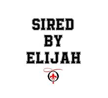 Sired by Elijah Photographic Print