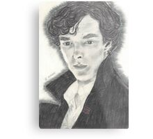 Sherlock as portrayed by Benedict Cumberbatch Metal Print