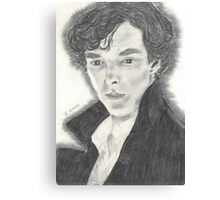 Sherlock as portrayed by Benedict Cumberbatch Canvas Print