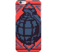 Grenade Pattern [Blue/Red] iPhone Case/Skin