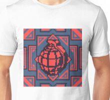 Grenade Pattern [Red/Blue] Unisex T-Shirt