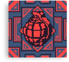 Grenade Pattern [Red/Blue] Canvas Print