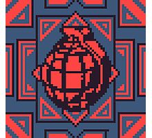 Grenade Pattern [Red/Blue] Photographic Print