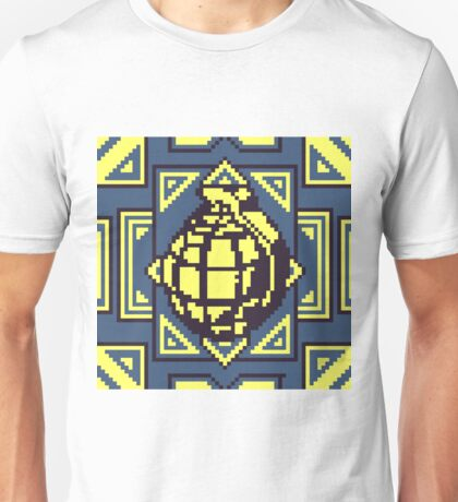 Grenade Pattern [Yellow/Blue] Unisex T-Shirt