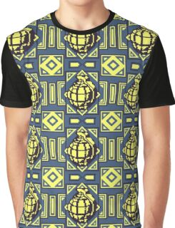 Grenade Pattern [Yellow/Blue] Graphic T-Shirt