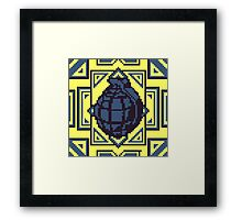 Grenade Pattern [Blue/Yellow] Framed Print