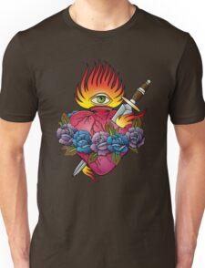 Flaming heart tattoo Unisex T-Shirt