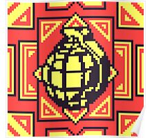 Grenade Pattern [Yellow/Red] Poster
