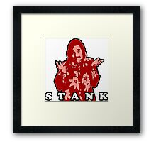 STANK BOLD FOR RED GINGER PEOPLE HOOT PEE Framed Print