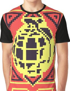 Grenade Pattern [Black/Red] Graphic T-Shirt