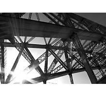 Metal & sky Photographic Print