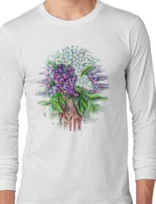 Lilac flowers Still life Long Sleeve T-Shirt