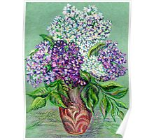 Lilac flowers Still life Poster