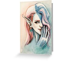 Pot Elf lady Greeting Card