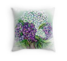Lilac flowers Still life Throw Pillow