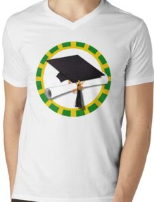 Green and Gold School Colors   Mens V-Neck T-Shirt