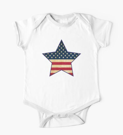 Star of American Flag One Piece - Short Sleeve