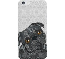 Cute black Pug iPhone Case/Skin