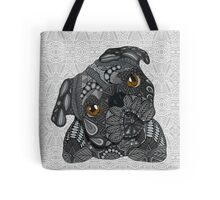 Cute black Pug Tote Bag