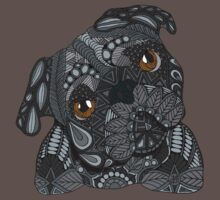 Cute black Pug One Piece - Short Sleeve