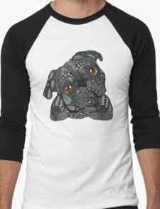 Cute black Pug Men's Baseball ¾ T-Shirt