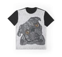 Cute black Pug Graphic T-Shirt