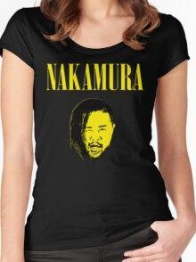 Nakamura 'Nevermind' mashup t-shirt Women's Fitted Scoop T-Shirt