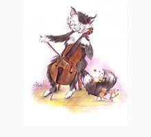 Cello Cat Drawing by Margit Unisex T-Shirt