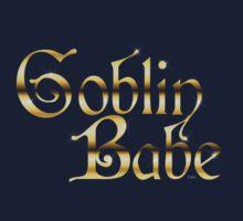 Labyrinth Goblin Babe (black bg) Kids Tee