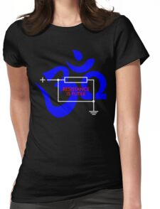 Resistance is Futile... Ohm! Womens Fitted T-Shirt