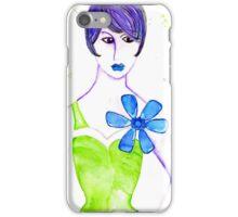 Simone in Green iPhone Case/Skin