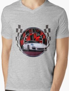 Sports cars and racing  Mens V-Neck T-Shirt