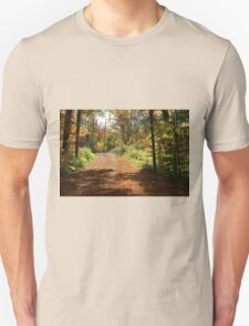Fall mountain forest road.  T-Shirt