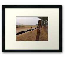 Barb Wire Fence Framed Print