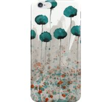 Mister Muscle - Teal Watercolor Flowers iPhone Case/Skin