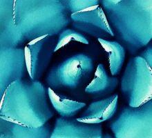 Macro Turquoise Plant Sticker