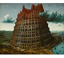 "The ""Little"" Tower of Babel - Bruegel Photographic Print"