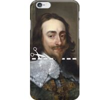 Cut Here - Charles I iPhone Case/Skin